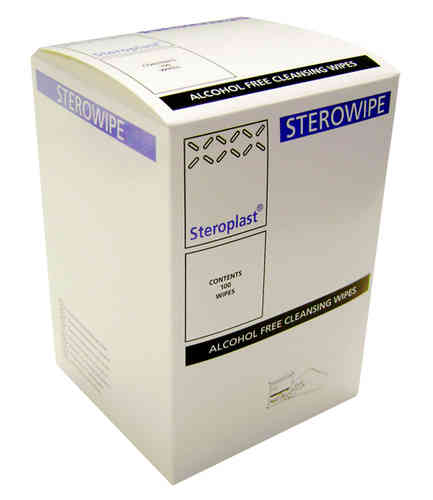 Steroplast Sterowipe Alcohol Free Cleansing Wipes (100)