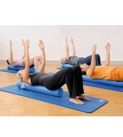 sissel pilates roller pro 15 cm x 45 cm blue incl exercise poster. Black Bedroom Furniture Sets. Home Design Ideas