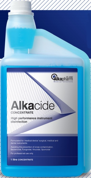 Alkacide 1 Litre Concentrate Flask - HCE Healthcare Equipment