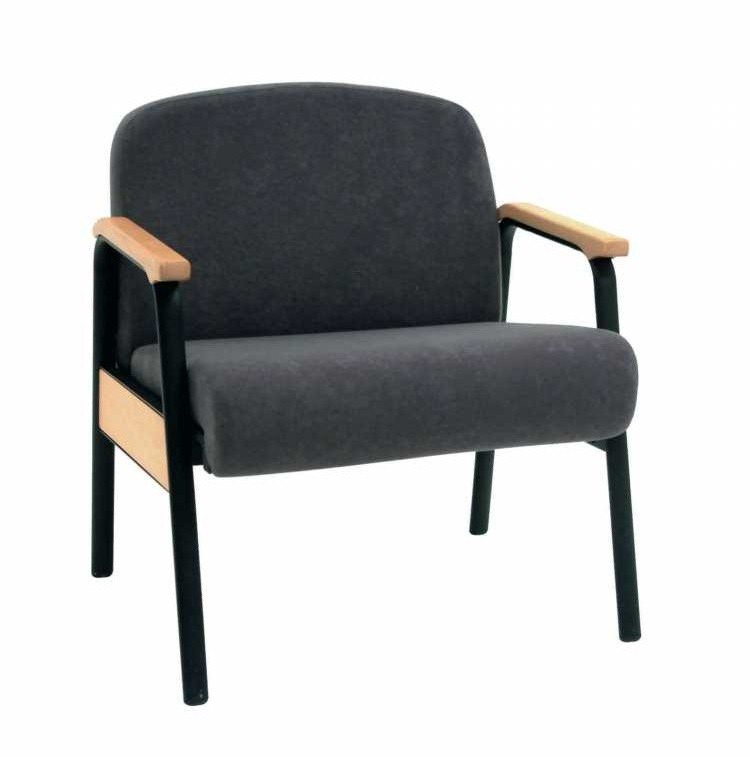 Bariatric Arm Chair With Anti Bacterial Vinyl Upholstery