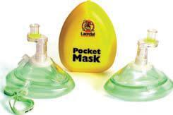 Laerdal Pocket Mask with Oxygen Inlet (with Gloves & Wipe in Yellow Hard Case)