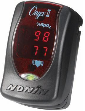 Nonin Onyx II Finger Pulse Oximeter + Justice Mark II Hard Case