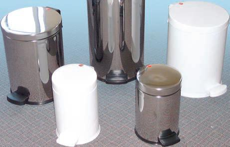 12 Litre White Pedal Bin with Galvanised Liner