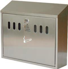Wall Mounted Ash Bin, Grey Hammer