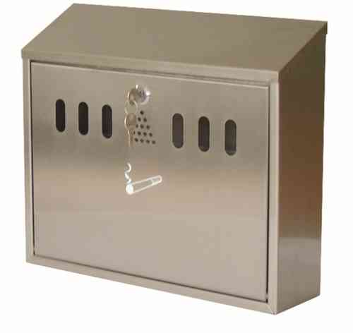 Wall Mounted Ash Bin, Stainless Steel Finish