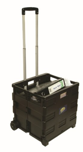Helix Folding Crate Trolley with waterproof cover