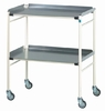 Doherty Halifax Mild Steel Trolley Aluminium Shelves (H: 915 x W: 765 x D: 460mm)