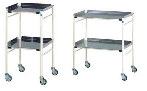 Doherty Harrogate Mild Steel Trolley Stainless Steel Shelves (H: 915 x W: 460 x D: 460mm)