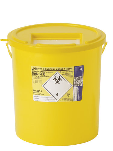 Daniels Sharpsguard Yellow 22 Litre (single)