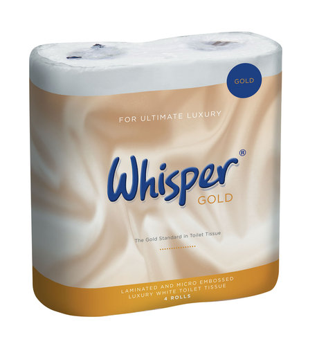 Whisper Gold 3ply Luxury Toilet Roll - Pack of 40