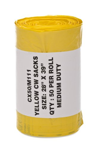 Universal Yellow Clinical Waste Bag 15 x 28 x 39 (200g) (1X200)