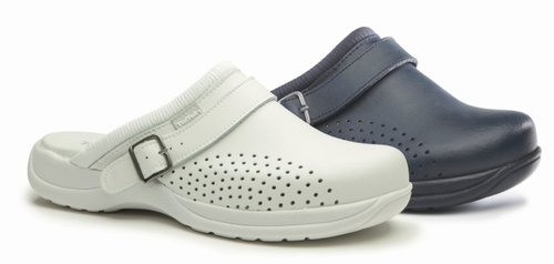 Toffeln Ultralite Antistatic Clogs with Strap (Navy)