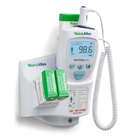 Welch Allyn SureTemp Plus 692 Thermometer - Wall Mounted with Alarm & 4ft Oral Probe