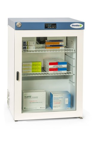 Shoreline SM60G Glass Door Pharmacy Refrigerator