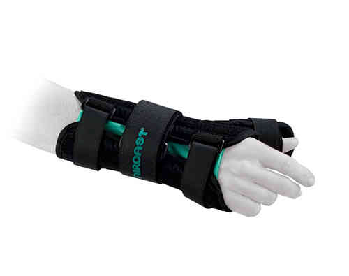 A2 AIRCAST WRIST BRACE WITH THUMB SPICA  - Right  - Small - Wrist Circumference 12.7-16.5cm