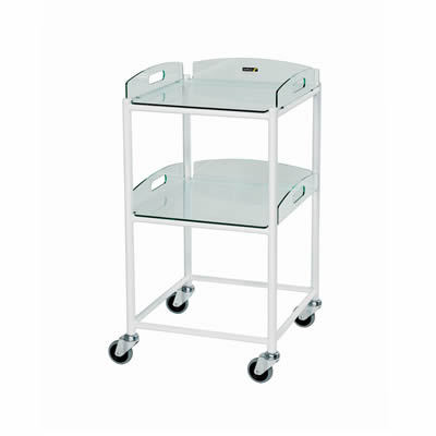 Sunflower Small Dressing Trolley – 2 Glass Effect Safety Trays