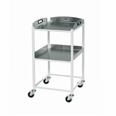 Sunflower Small Dressings Trolley – 2 Stainless Steel Trays