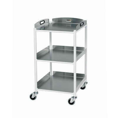 Sunflower Small Dressings Trolley – 3 Stainless Steel Trays