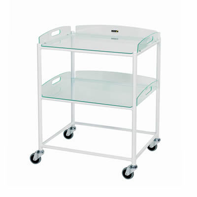 Sunflower Medium Dressing Trolley – 2 Glass Effect Trays