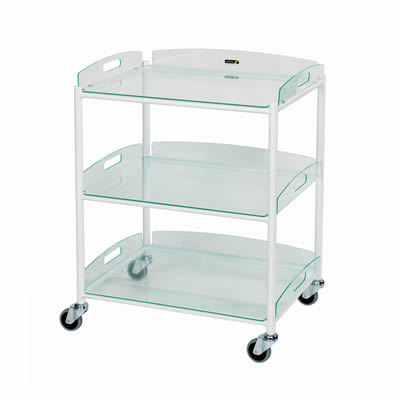 Sunflower Medium Dressing Trolley – 3 Glass Effect Trays
