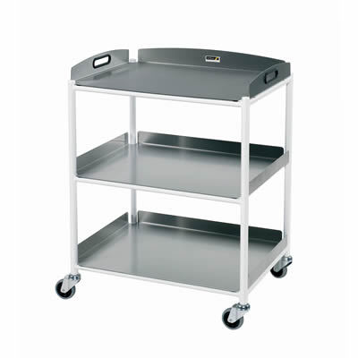Sunflower Dressings Trolley – 3 Stainless Steel Trays