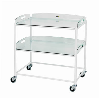 Sunflower Dressings Trolley – 2 Glass Effect Trays