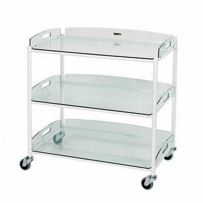 Sunflower Dressings Trolley – 3 Glass Effect Trays