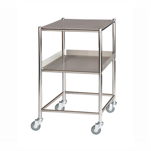 Sunflower Surgical Trolley - 1 Stainless Steel Shelf & 1 Tray
