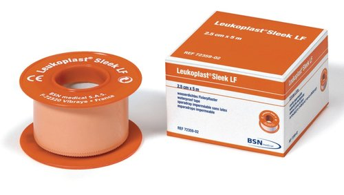 Leukoplast Sleek Waterproof Tape 2.5cm x 5m - Pack of 12