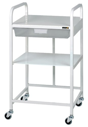 Sunflower Vista 10 Trolley 1 Single Depth Clear Tray & 1 Shelf