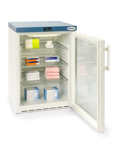Shoreline SM161G Glass Door Pharmacy Refrigerator