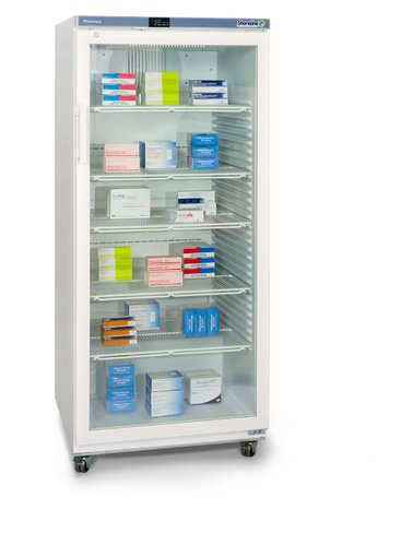 Shoreline SM544G Glass Door Pharmacy Refrigerator