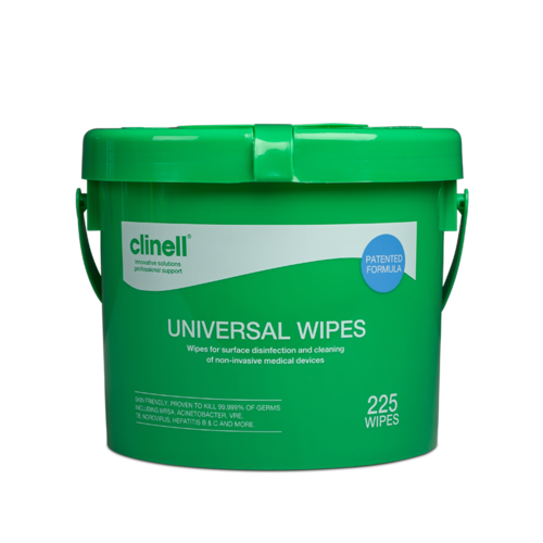 Clinell Universal Bucket of 225 Wipes