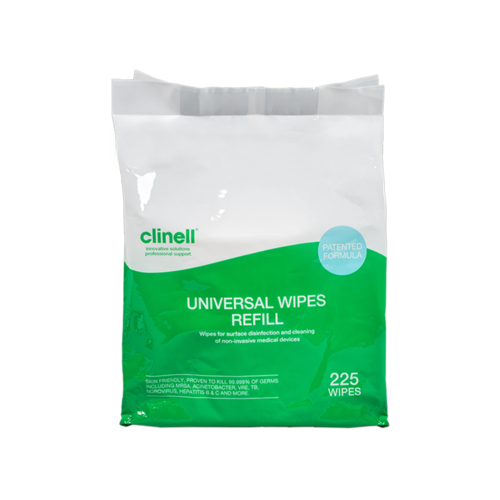 Clinell Universal Bucket Refill 225 Wipes
