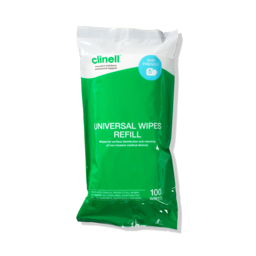 Clinell Universal Wipes Tub 100 Refill