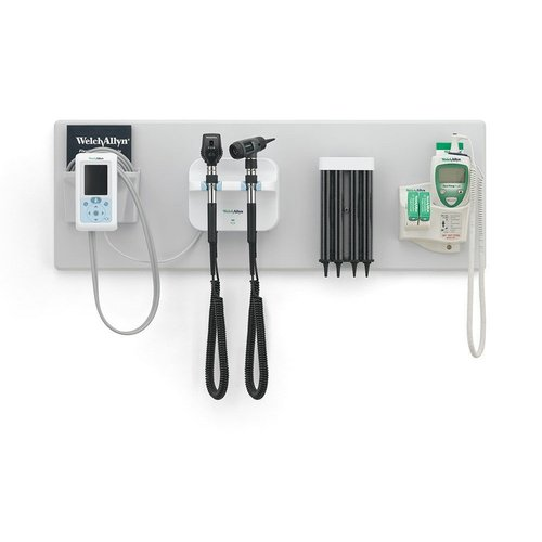 Green Series 777 Wall Set - Coaxial Ophthalmoscope, MacroView Otoscope, Connex ProBP, SureTemp Plus