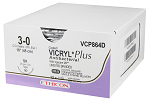 VCP497H Coated VICRYL* Plus Suture 19mm 45cm- Gauge 3-0 2