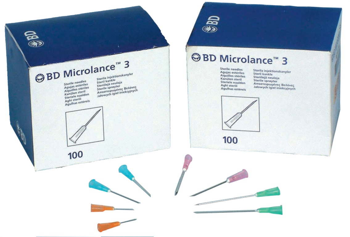 Bd Microlance Needles 19g X 15 Box Of 100 Cream Hce Healthcare