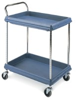 BC Deep Ledge Cart 2-Shelf Deep (Blue) - 546x831x1041mm