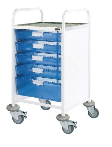 Sunflower Vista 50 Clinical Trolley – 2 Single & 2 Double Depth Trays