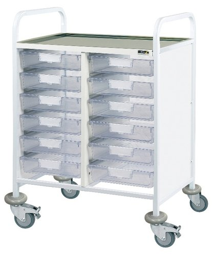 Sunflower Vista 60 Clinical Trolley – 6 Double Depth Trays