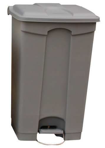 Plastic Pedal Step On Bin - Grey - 90 Litre