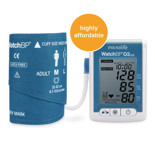 Microlife WatchBP 03 ABPM 24 Hour with AFIB Detection - (Cuffs Included)
