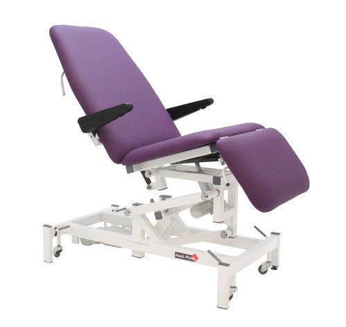 Medi-Plinth Podiatry Chair with Single Leg Electric - Ash Grey