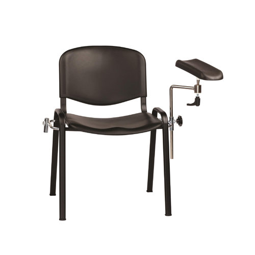 Sunflower Moulded Seat Phlebotomy/Treatment Chair - Black