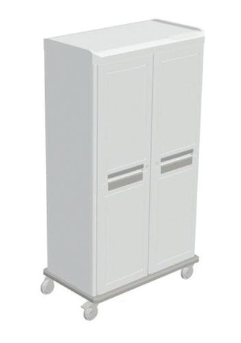 Starsys Catheter Carts - Mobile Double Catheter Unit with Locking Doors, 2 Catheter Shelf, 6 Slides