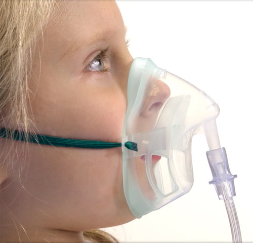 Intersurgical Paediatric EcoLite Medium Concentration Oxygen Mask + Tube