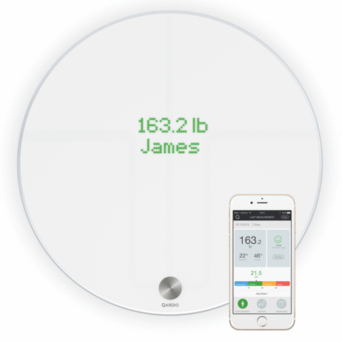 QardioBase 2 - Wireless Smart Scale and Body Composition Analyser - White (Non-Medical)