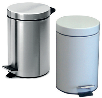 3L Pedal Operated Bin Mirror Stainless Steel Plastic Liner