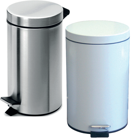 5L Pedal Operated Bin White